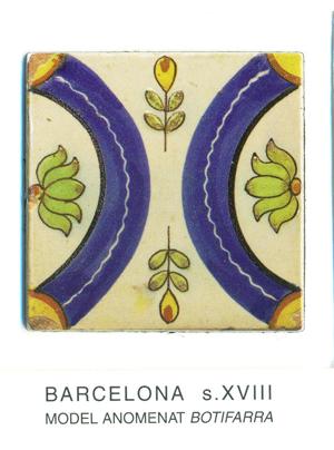 """Iman del model de rajola anomenat """"botifarra"""". Barcelona, segles XVIII"""
