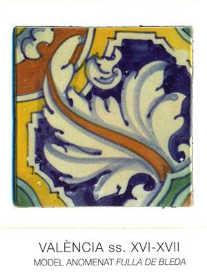 """Iman del model de rajola anomenat """"fulla de bleda"""". València, segles XVI-XVII."""