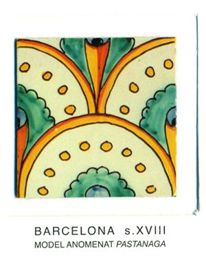 """Iman del model de rajola anomenat """"pastanaga"""". Barcelona, segles XVIII"""